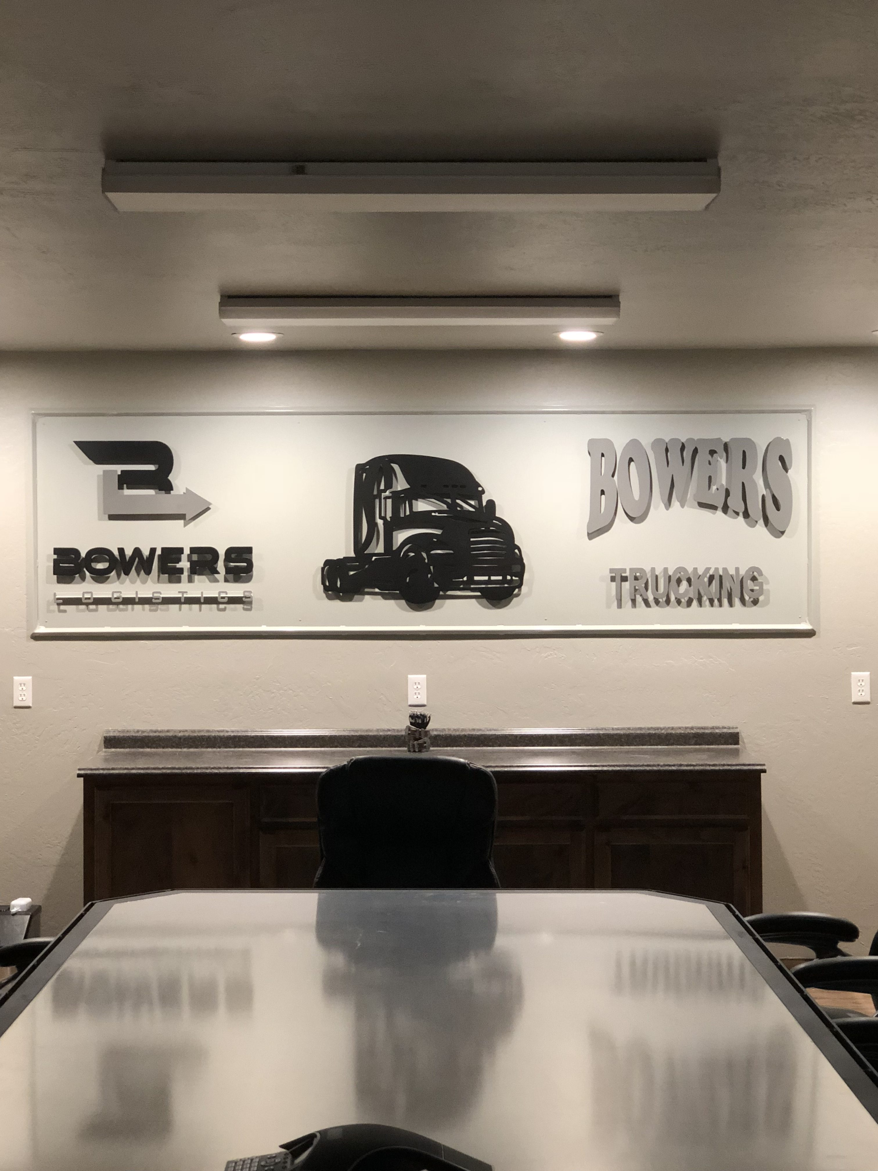 Custom Sign For Bowers Trucking