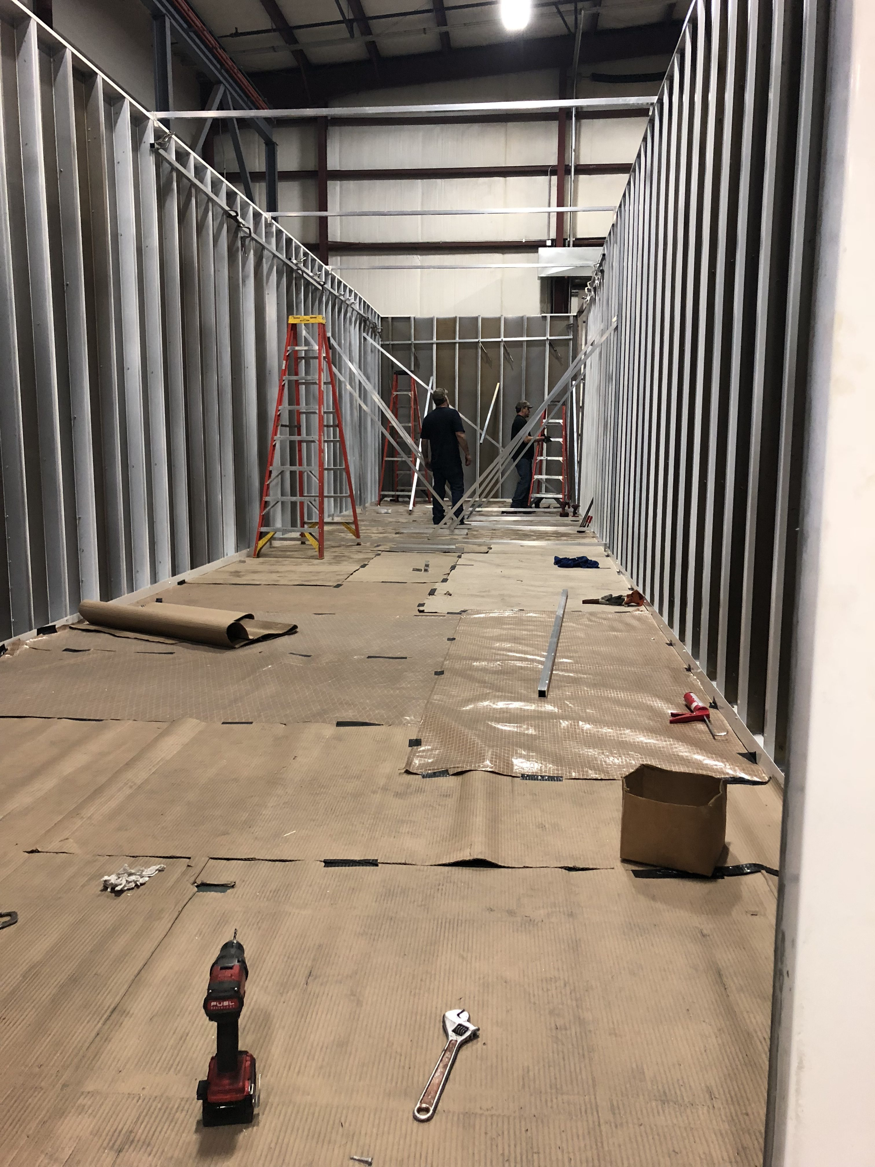 Inside Skid Building - Not Finished