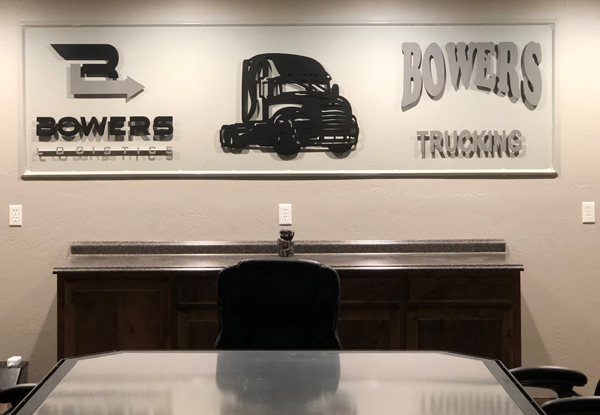 Custom Fabricated Sign for Trucking Company
